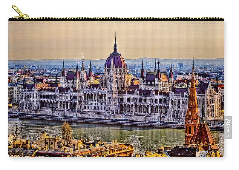 Hungary Carry-all Pouch featuring the photograph House Of The Nation by Claude LeTien