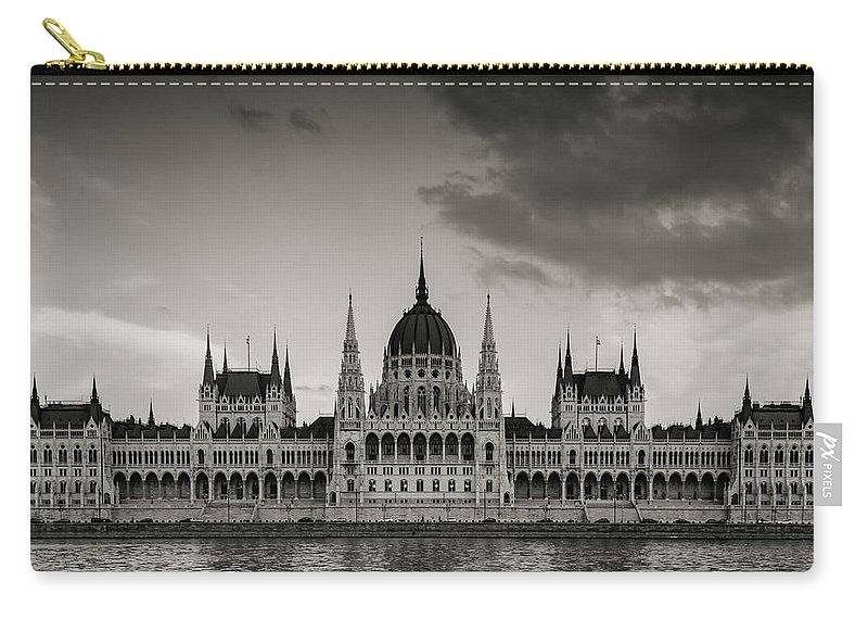 Europe Carry-all Pouch featuring the photograph Budapest Parliament by Priya Gandhi Kelkar