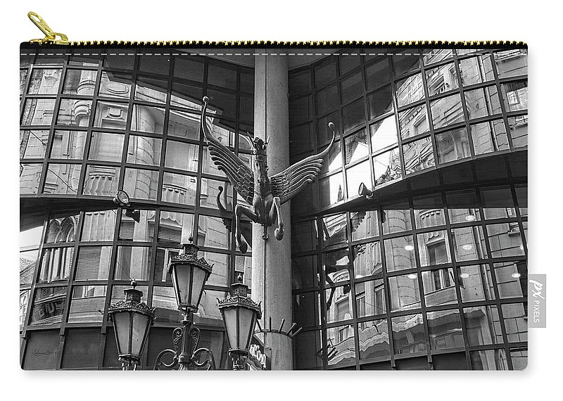 Budapest Carry-all Pouch featuring the photograph Budapest Reflections by Sharon Popek