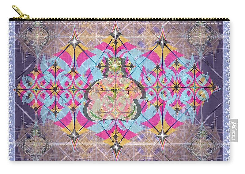 Abstract Carry-all Pouch featuring the digital art Buddah II by George Pasini