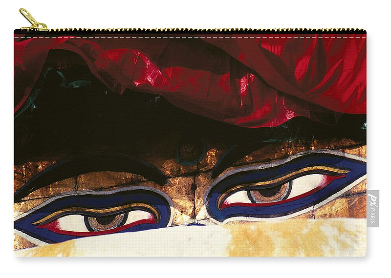 Eyes Carry-all Pouch featuring the photograph Buddha Eyes by Patrick Klauss
