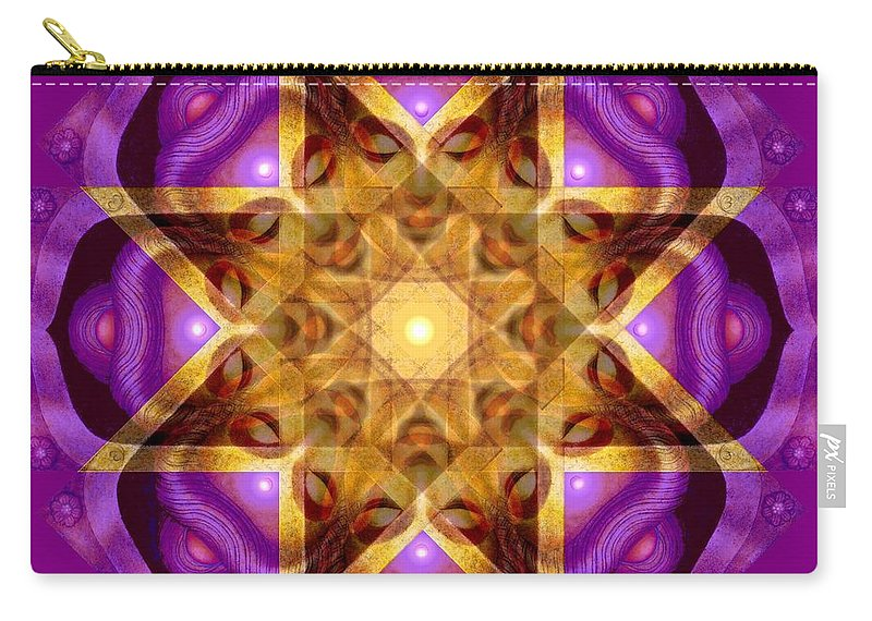 Buddha Carry-all Pouch featuring the painting Buddha Mandala by Sue Halstenberg