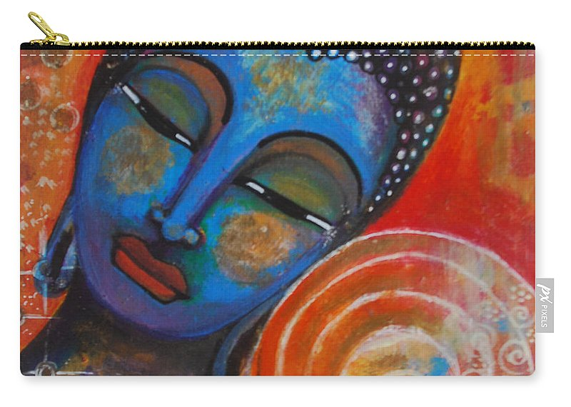 Buddha Carry-all Pouch featuring the painting Buddha by Prerna Poojara