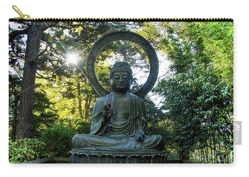 Tinas Captured Moments Carry-all Pouch featuring the photograph Buddha by Tina Hailey