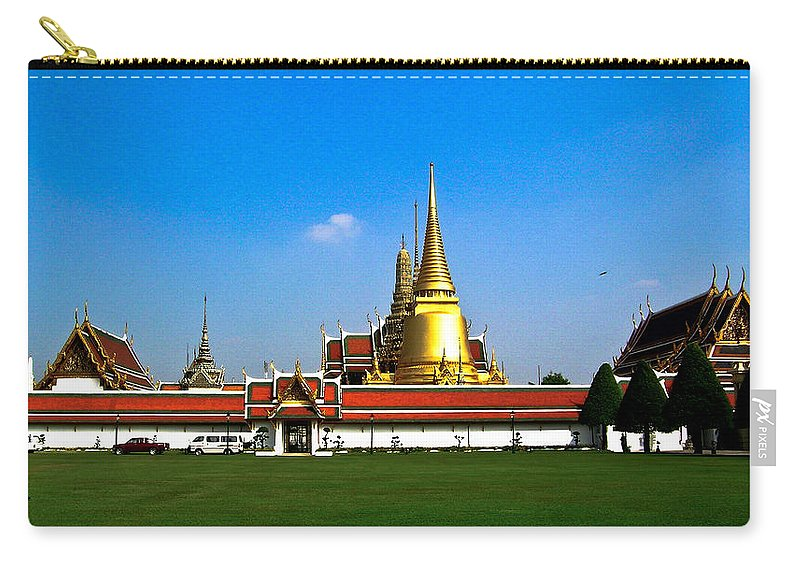 Buddha Carry-all Pouch featuring the photograph Buddhaist Temple by Douglas Barnett