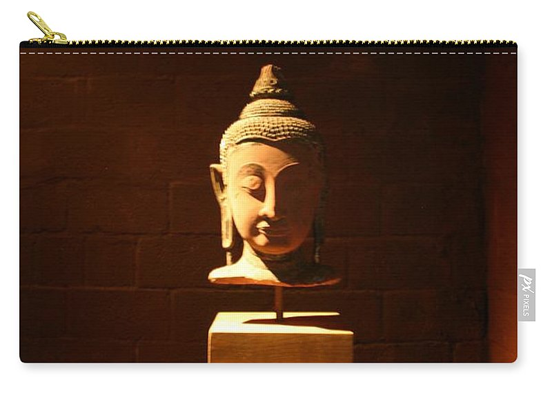 Buddhism Carry-all Pouch featuring the photograph Buddhism In Belgium by Minaz Jantz