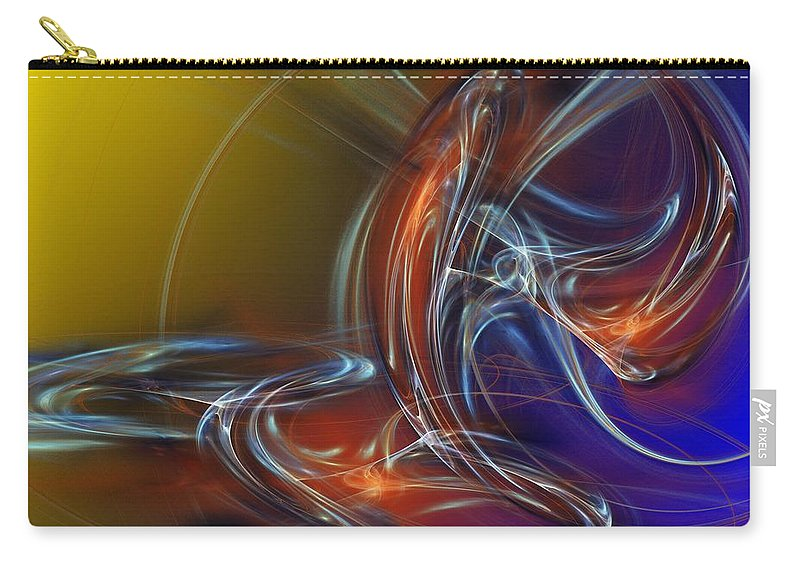 Fine Art Carry-all Pouch featuring the digital art Buddhist Protest by David Lane