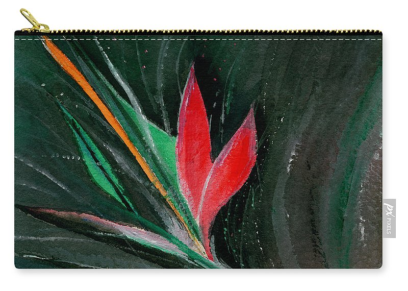 Flower Carry-all Pouch featuring the painting Budding by Anil Nene