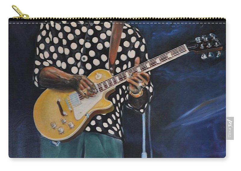 Painting Carry-all Pouch featuring the painting Buddy Guy by Gordon Roy