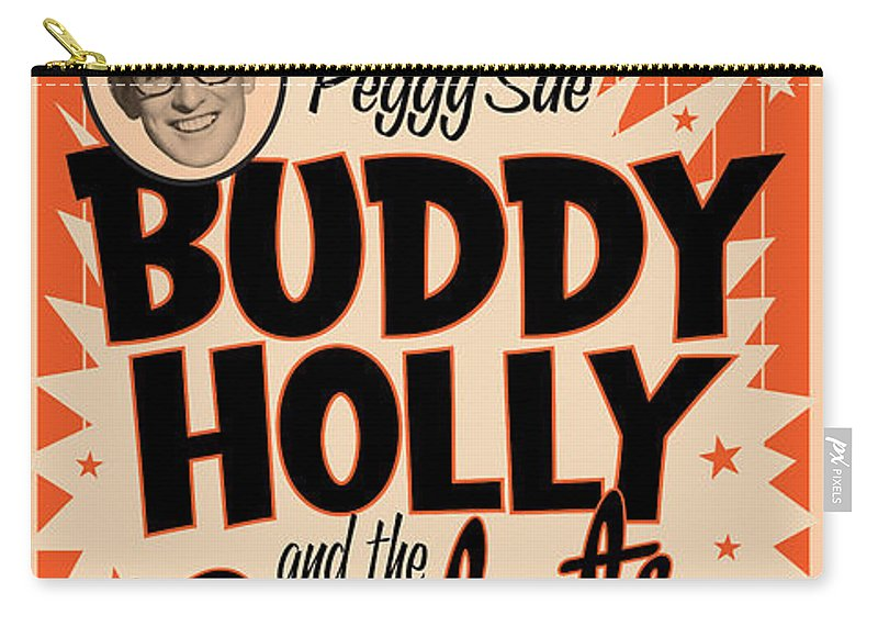 Logo Carry-all Pouch featuring the digital art Buddy Holly by Gary Grayson