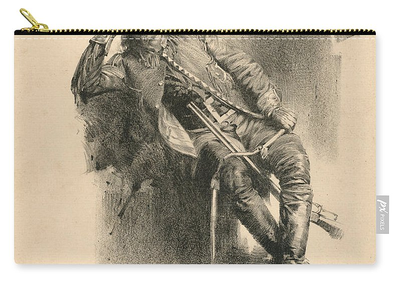 Buffalo Bill Carry-all Pouch featuring the drawing Buffalo Bill by American School