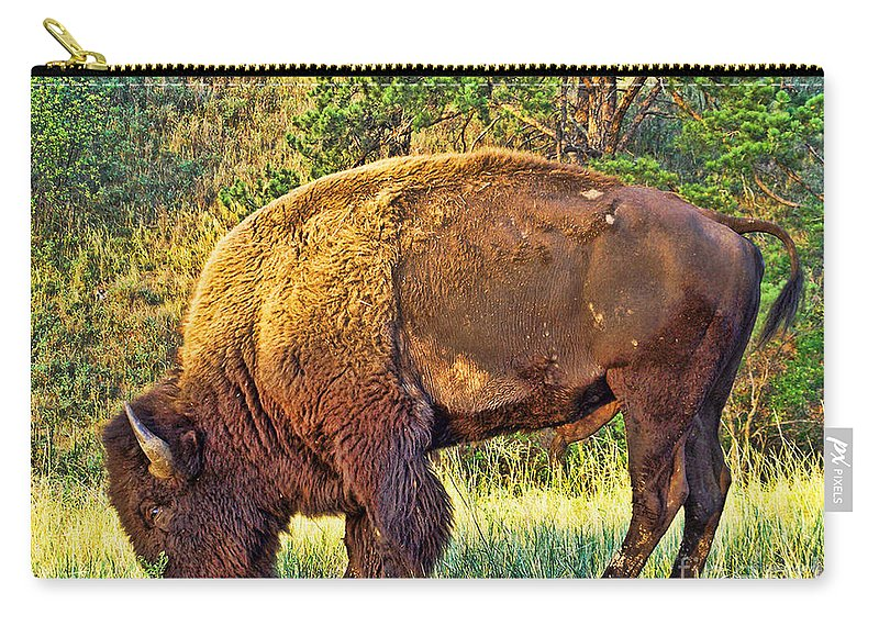 Custer State Park Carry-all Pouch featuring the photograph Buffalo Custer State Park by Tommy Anderson