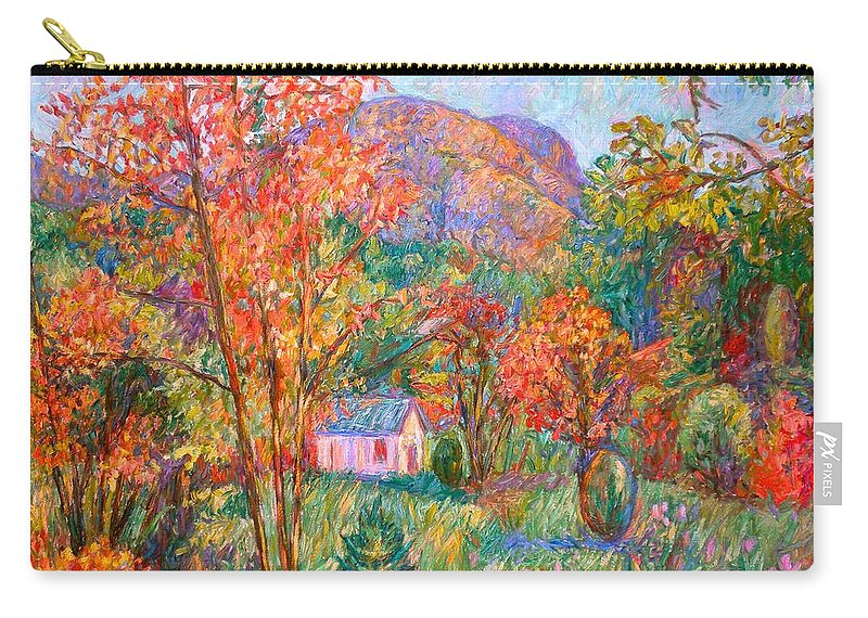 Landscape Carry-all Pouch featuring the painting Buffalo Mountain In Fall by Kendall Kessler