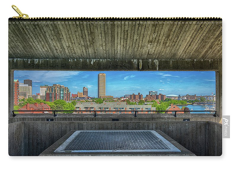 Buffalo Carry-all Pouch featuring the photograph Buffalo New York Window by Eric Jahn