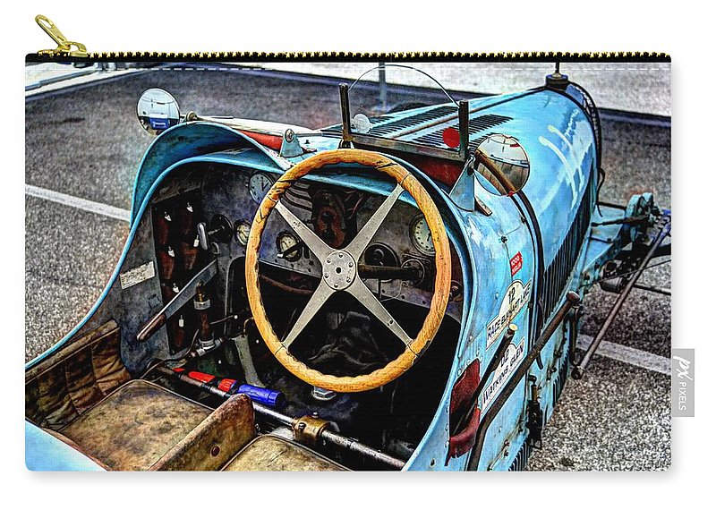 Josh Williams Photography Carry-all Pouch featuring the photograph Bugatti Driver Side 1925 by Josh Williams