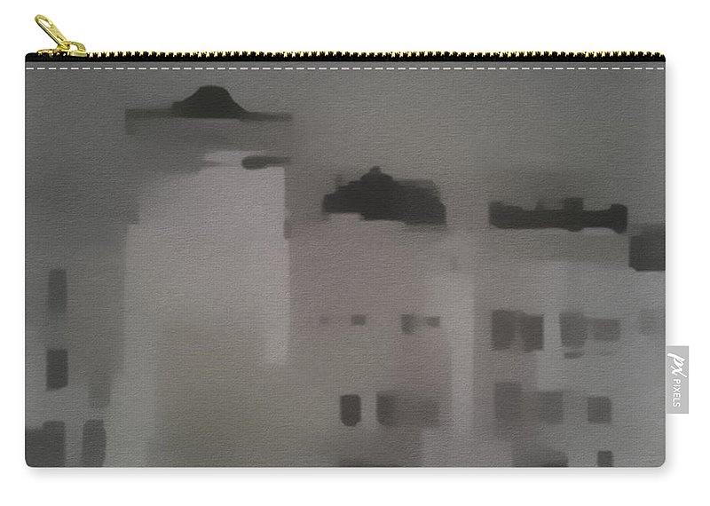 Buildings Carry-all Pouch featuring the painting Buildings by Springtime Seventy Eight