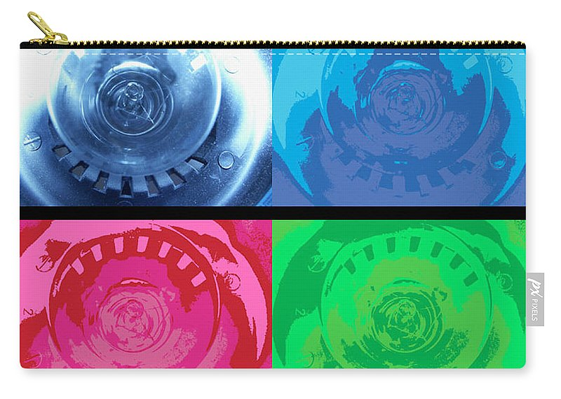 Abstract Carry-all Pouch featuring the photograph Bulbs In The Style Of Warhol by Scott Wyatt