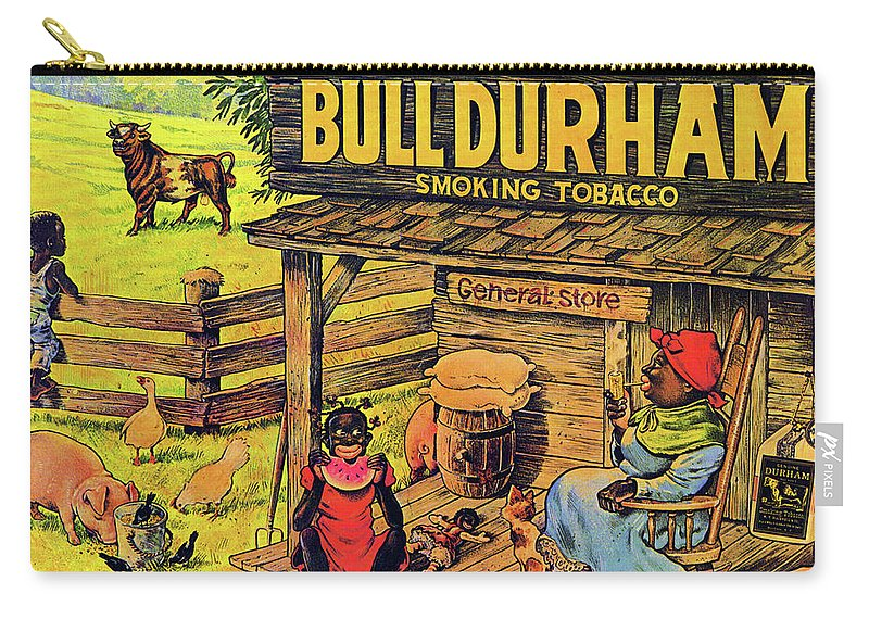 Black Americana Carry-all Pouch featuring the digital art Bull Durham My It Shure Am Sweet Tastan by ReInVintaged