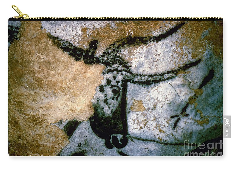 Bull Carry-all Pouch featuring the photograph Bull: Lascaux, France by Granger