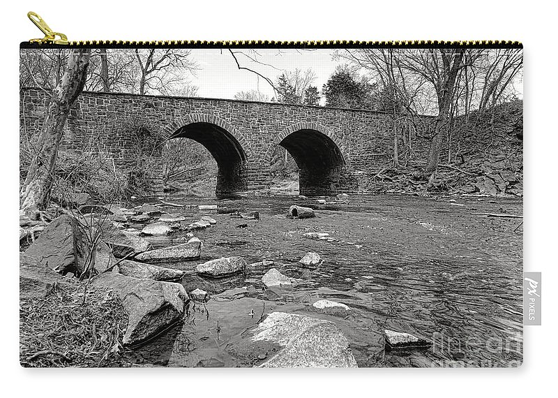 Bull Carry-all Pouch featuring the photograph Bull Run Bridge by Olivier Le Queinec