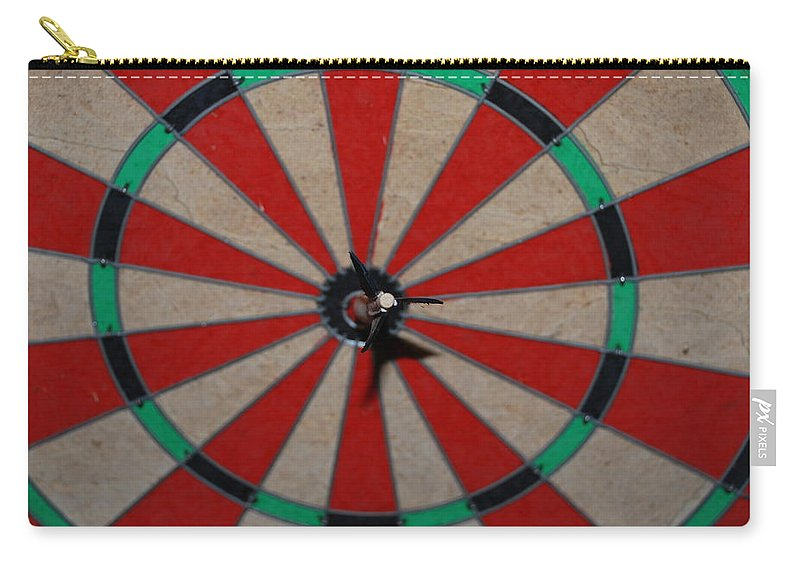Macro Carry-all Pouch featuring the photograph Bulls Eye by Rob Hans