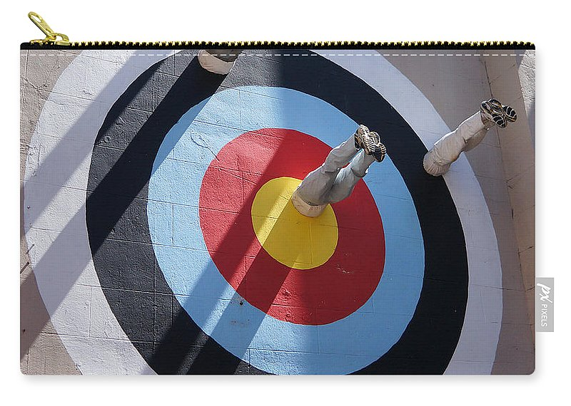 Ann Keisling Carry-all Pouch featuring the photograph Bullseye by Ann Keisling