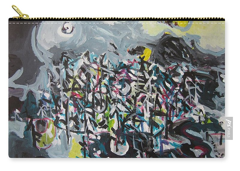 Abstract Paintings Carry-all Pouch featuring the painting Bummer Flat11 by Seon-Jeong Kim