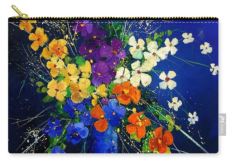 Poppies Carry-all Pouch featuring the print Bunch 0408 by Pol Ledent