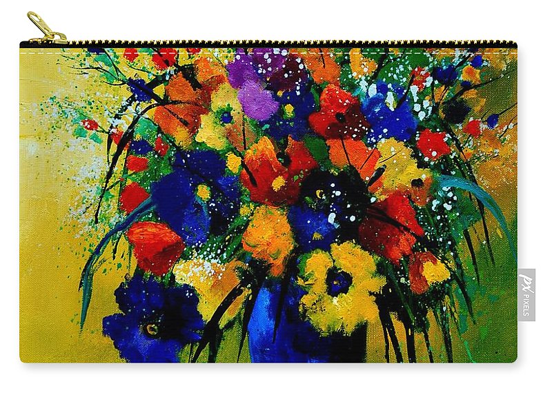 Poppies Carry-all Pouch featuring the painting Bunch 0508 by Pol Ledent