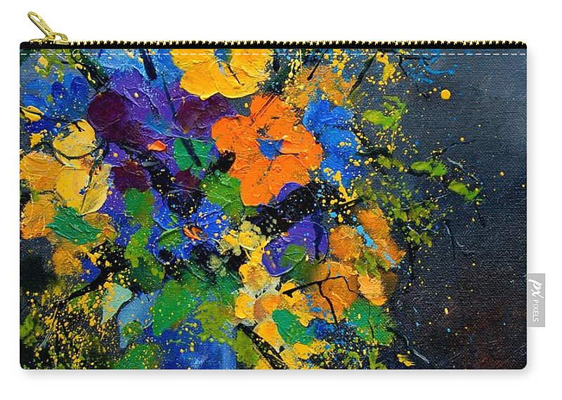 Poppies Carry-all Pouch featuring the painting Bunch 1007 by Pol Ledent