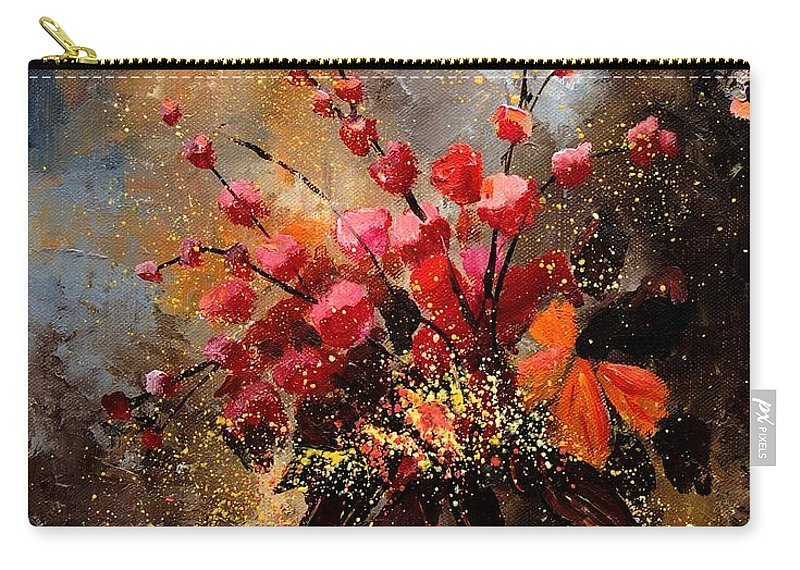 Poppies Carry-all Pouch featuring the painting Bunch 1207 by Pol Ledent