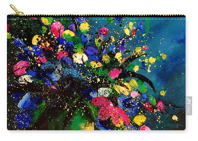 Poppies Carry-all Pouch featuring the painting Bunch 45 by Pol Ledent
