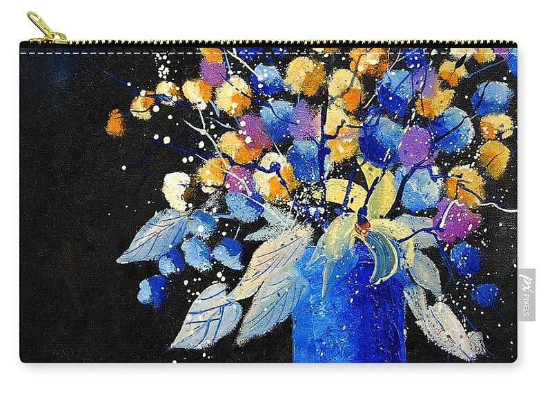 Flowers Carry-all Pouch featuring the painting Bunch 451008 by Pol Ledent