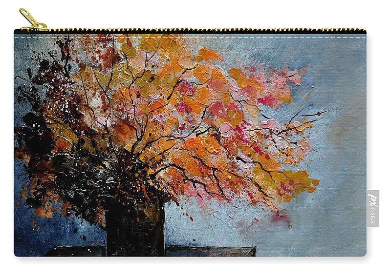 Flowers Carry-all Pouch featuring the painting Bunch 51140 by Pol Ledent