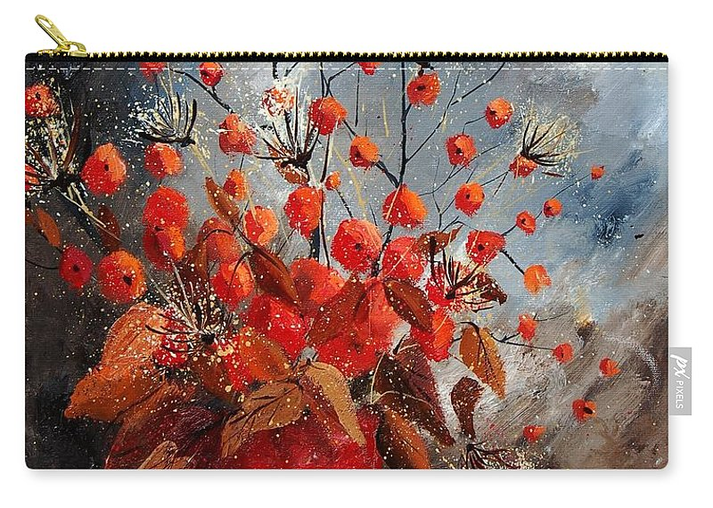 Flowers Carry-all Pouch featuring the painting Bunch 560608 by Pol Ledent