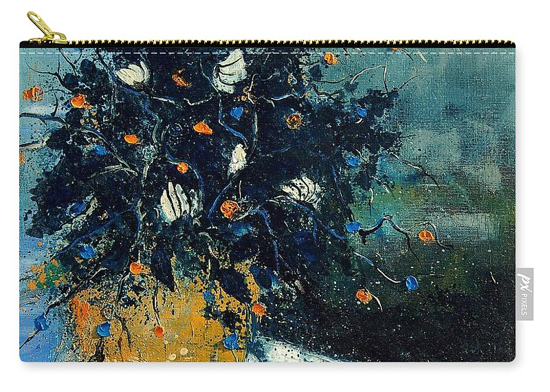 Flowers Carry-all Pouch featuring the painting Bunch 56124587 by Pol Ledent