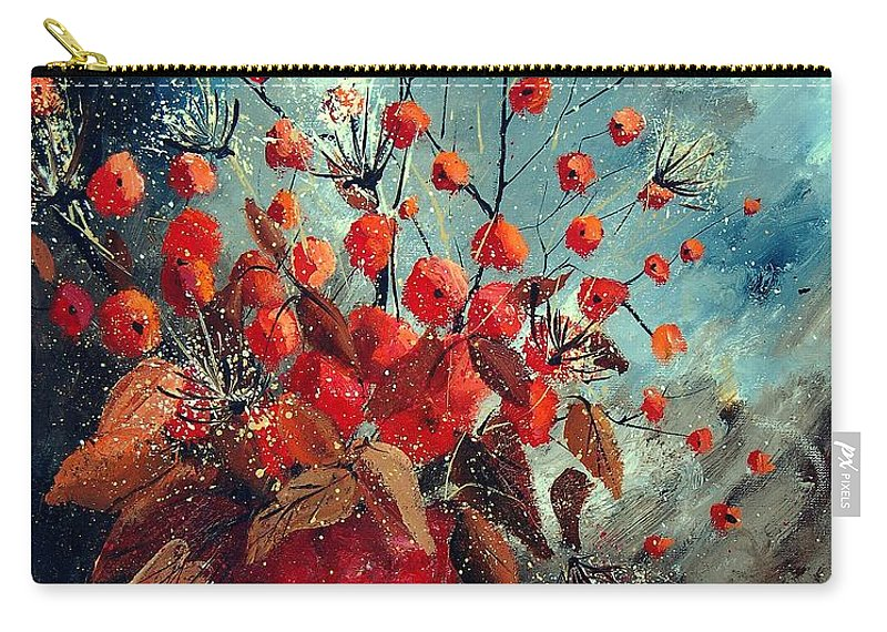 Flowers Carry-all Pouch featuring the painting Bunch 562139854 by Pol Ledent