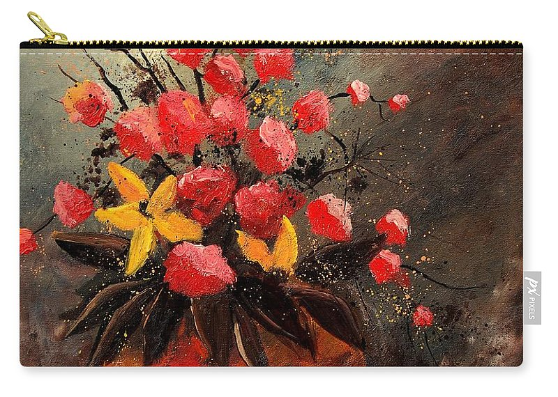 Flowers Carry-all Pouch featuring the painting Bunch 569060 by Pol Ledent