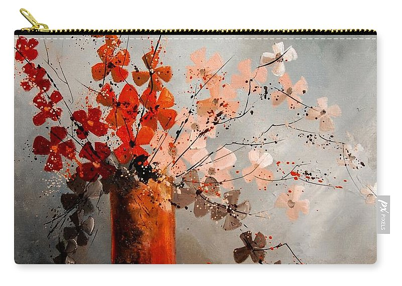Flowers Carry-all Pouch featuring the painting Bunch 670908 by Pol Ledent