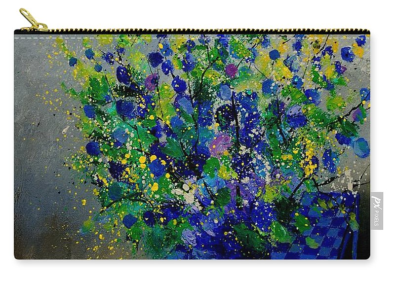 Flowers Carry-all Pouch featuring the painting Bunch 9020 by Pol Ledent