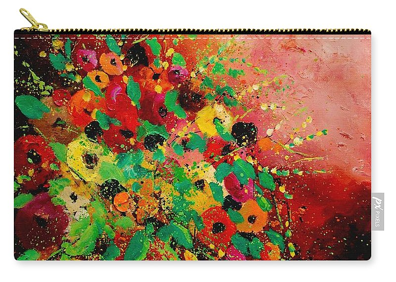 Flowers Carry-all Pouch featuring the painting Bunch Of Flowers 0507 by Pol Ledent