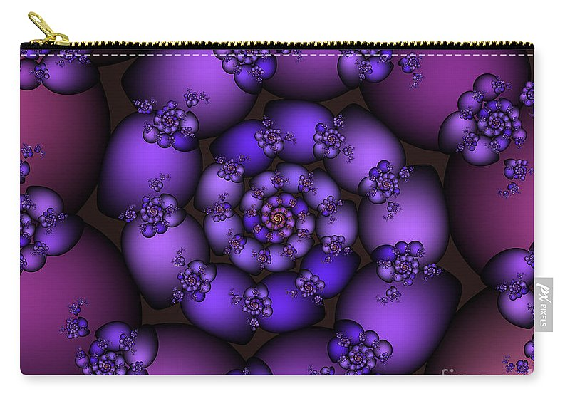 Fractal Carry-all Pouch featuring the digital art Bunch Of Grapes by Jutta Maria Pusl