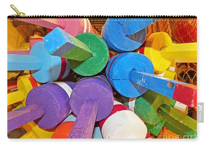 Abstract Carry-all Pouch featuring the photograph Buoy Kaleidoscope by Sharon Eng