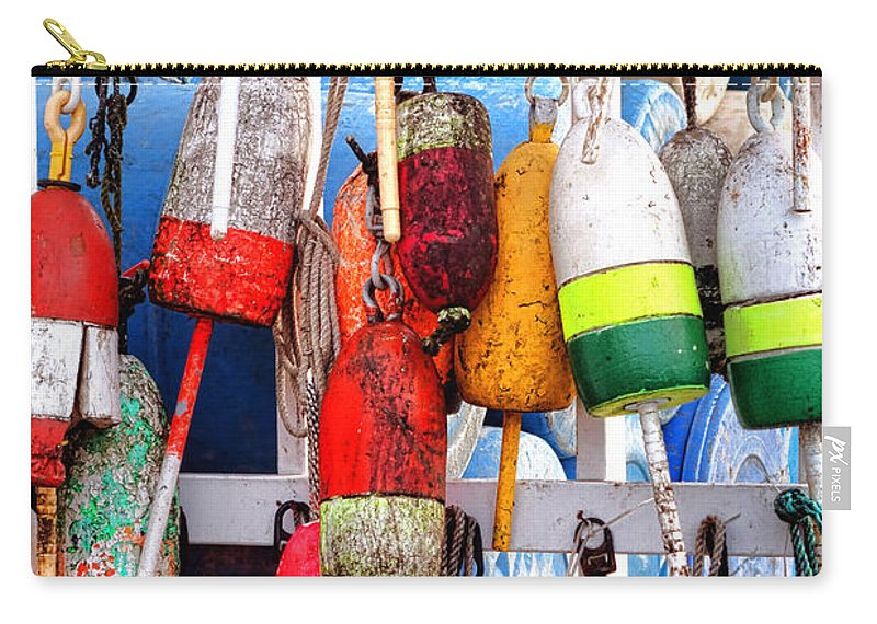 Lobster Carry-all Pouch featuring the photograph Buoyology by Olivier Le Queinec