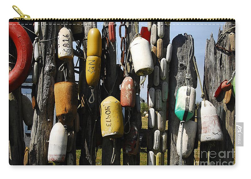 Buoys Carry-all Pouch featuring the photograph Buoys by David Lee Thompson