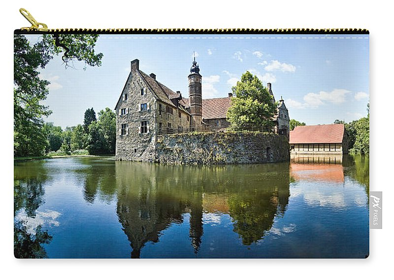 Burg Vischering Carry-all Pouch featuring the photograph Burg Vischering by Dave Bowman
