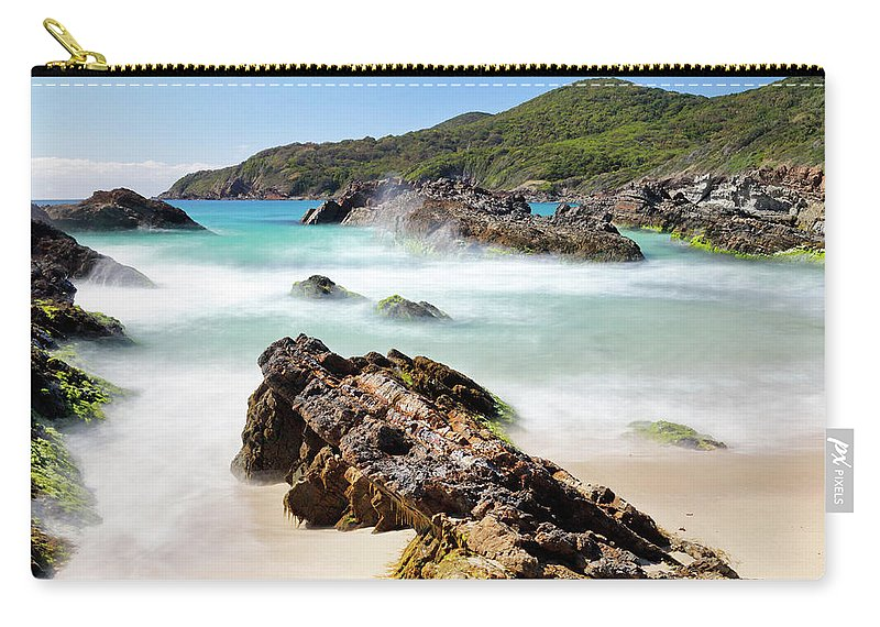 Burgess Carry-all Pouch featuring the photograph Burgess Beach by Nicholas Blackwell
