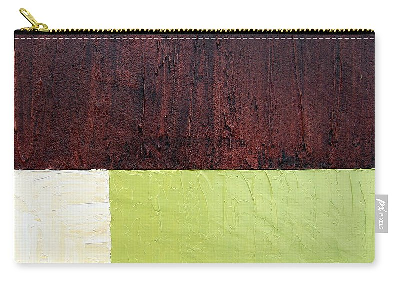 Cream Carry-all Pouch featuring the painting Burgundy Cream Pickle by Michelle Calkins