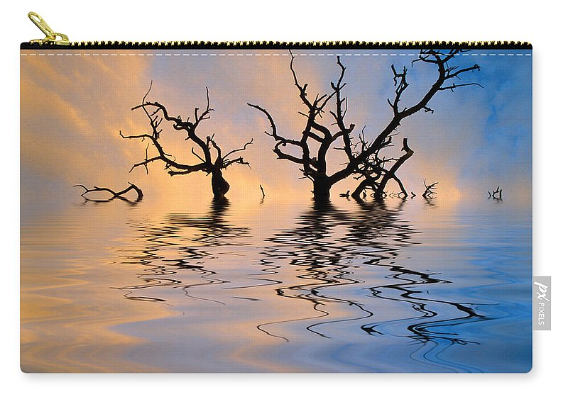 Original Art Carry-all Pouch featuring the photograph Slowly Sinking by Jerry McElroy
