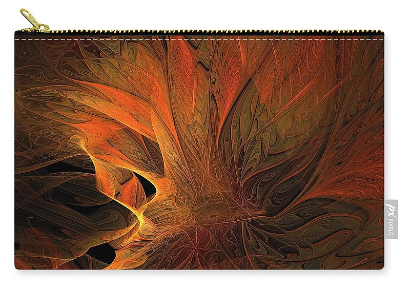 Digital Art Carry-all Pouch featuring the digital art Burn by Amanda Moore